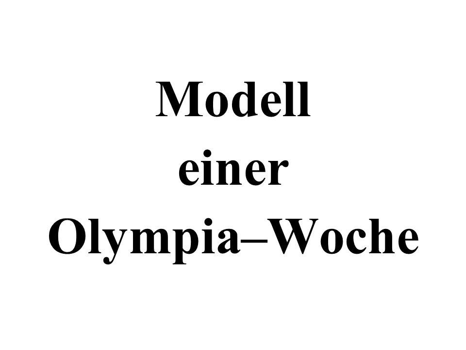 Modell einer Olympia–Woche