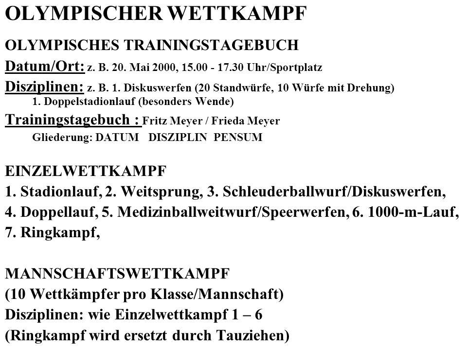 OLYMPISCHER WETTKAMPF
