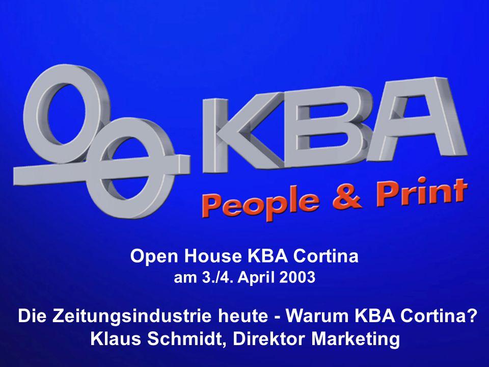 Die Zeitungsindustrie heute - Warum KBA Cortina