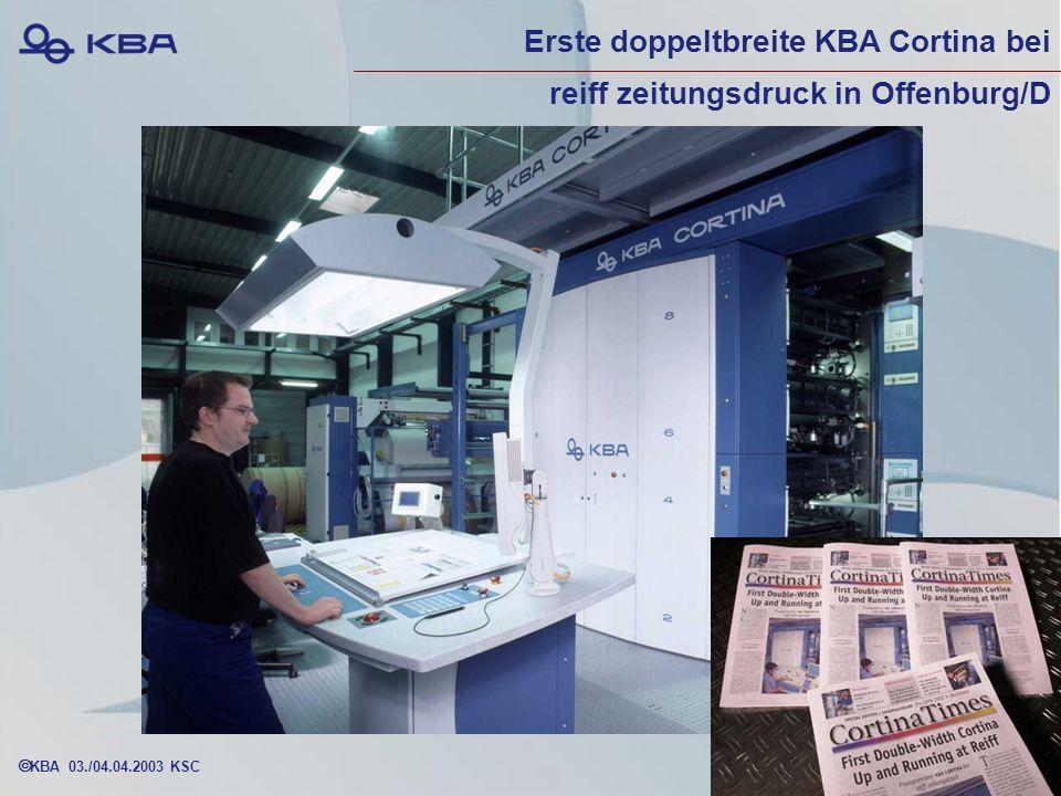 Erste doppeltbreite KBA Cortina bei reiff zeitungsdruck in Offenburg/D