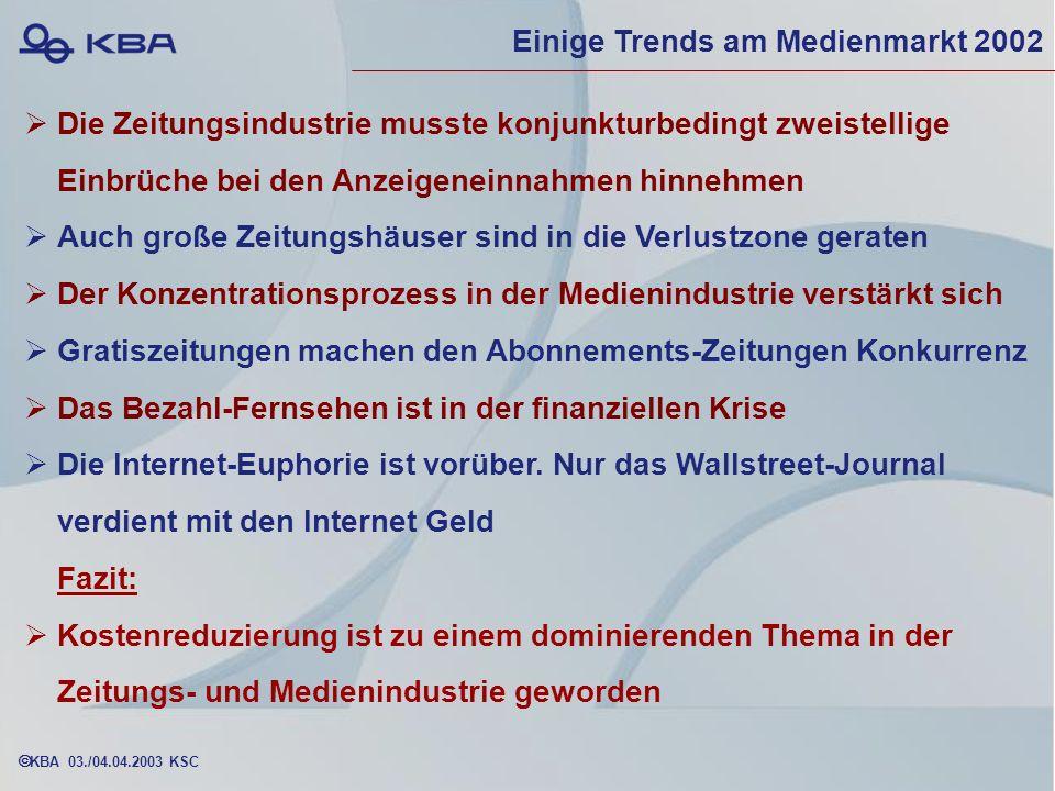 Einige Trends am Medienmarkt 2002