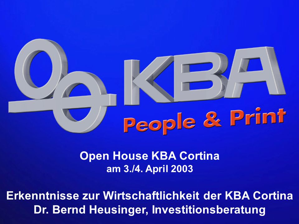 Open House KBA Cortina am 3./4. April