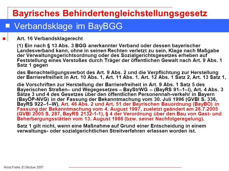 Verbandsklage im BayBGG