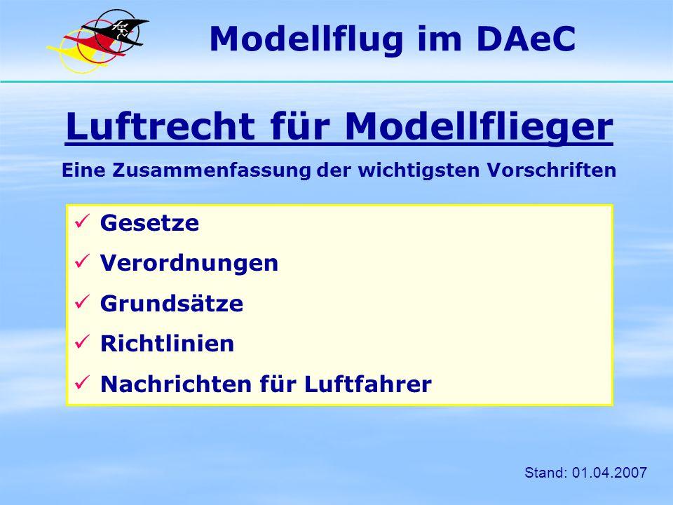 Luftrecht für Modellflieger
