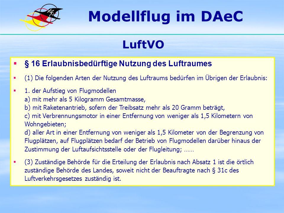 Modellflug im DAeC LuftVO