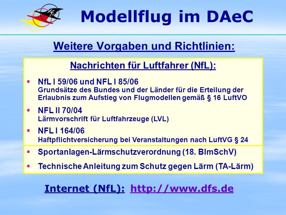Weitere Vorgaben und Richtlinien: