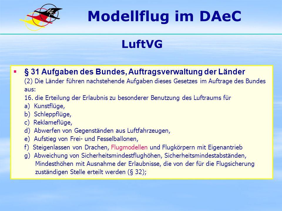 Modellflug im DAeC LuftVG