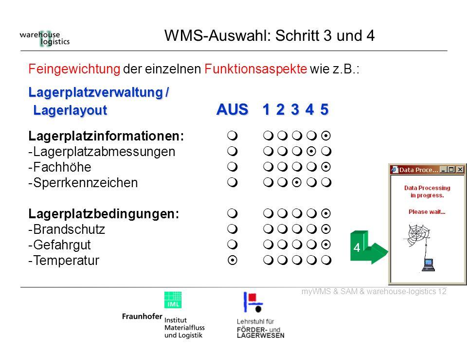 WMS-Auswahl: Schritt 3 und 4