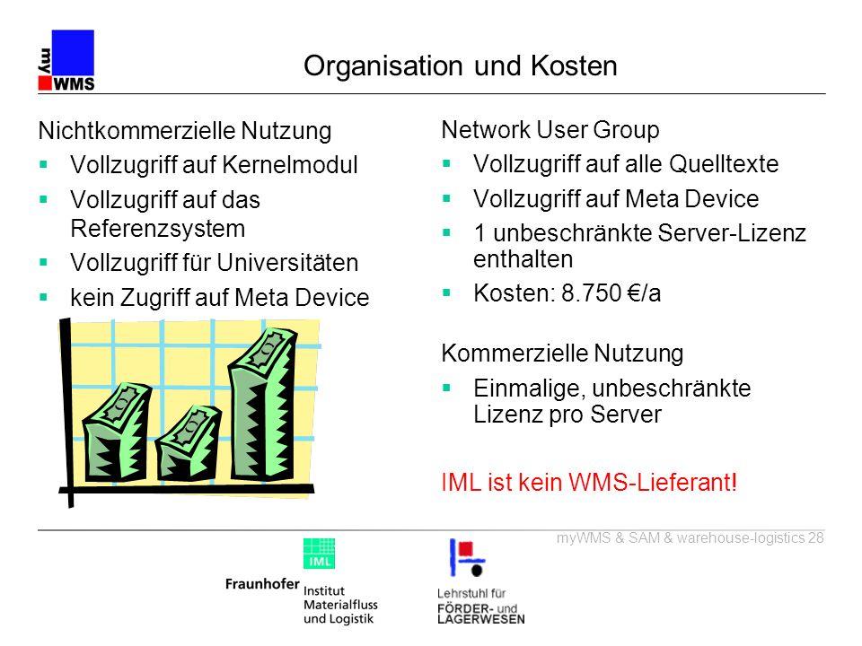 Organisation und Kosten