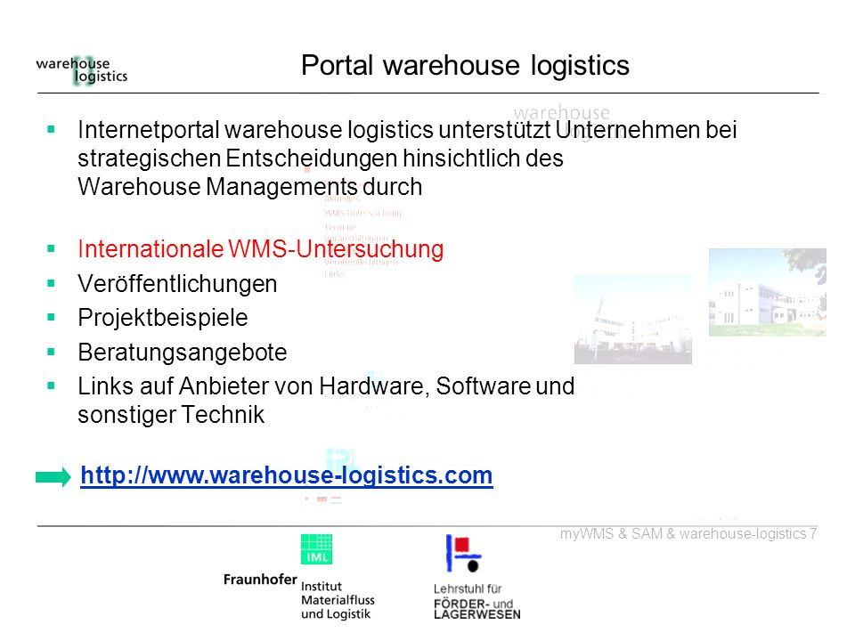 Portal warehouse logistics