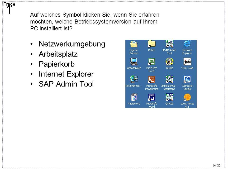 1 Netzwerkumgebung Arbeitsplatz Papierkorb Internet Explorer