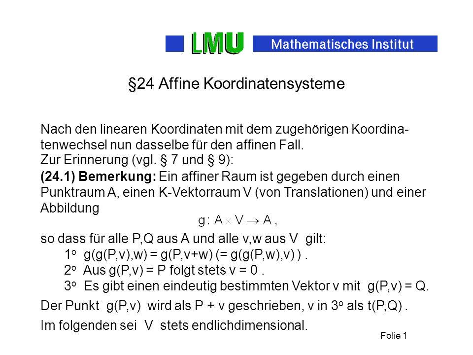 §24 Affine Koordinatensysteme