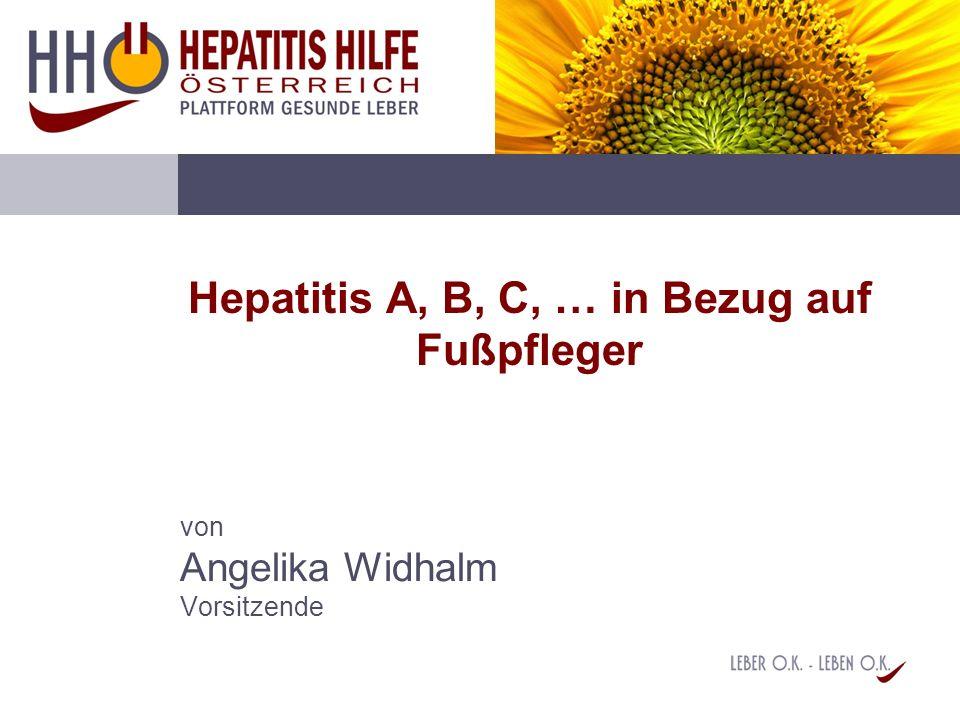 Hepatitis A, B, C, … in Bezug auf Fußpfleger