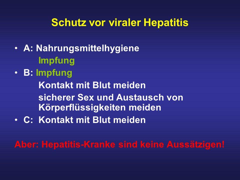 Schutz vor viraler Hepatitis