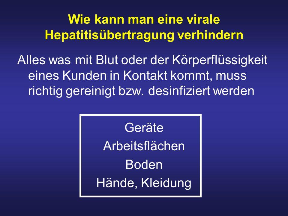Wie kann man eine virale Hepatitisübertragung verhindern