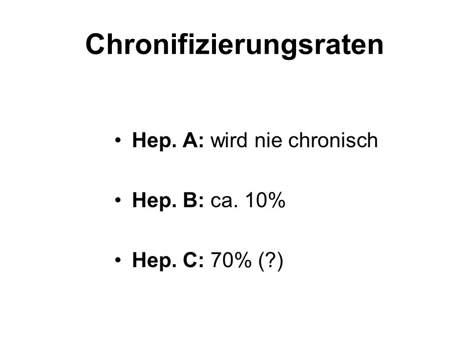 Chronifizierungsraten