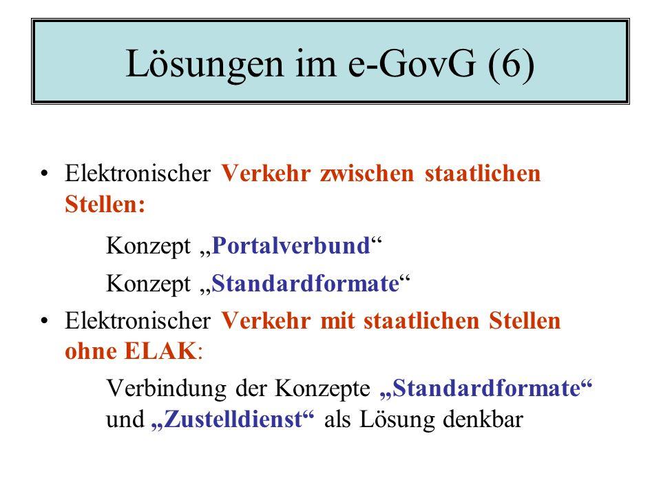 """Lösungen im e-GovG (6) Konzept """"Portalverbund"""