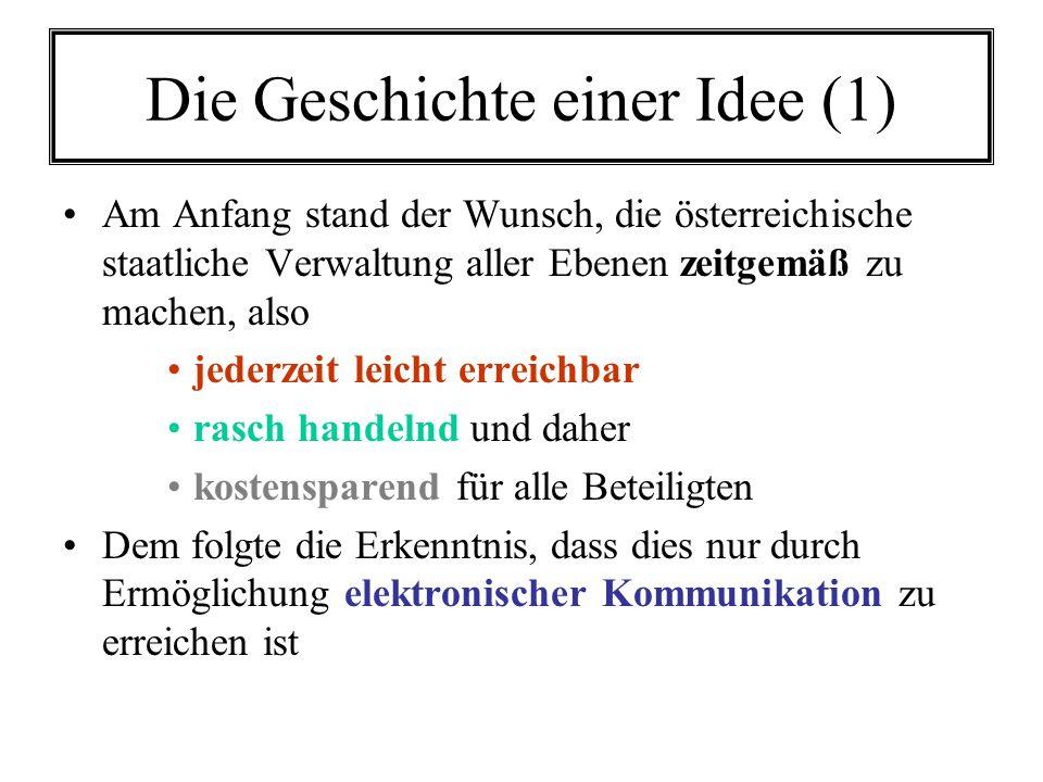 Die Geschichte einer Idee (1)