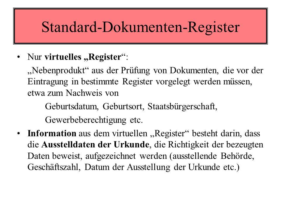 Standard-Dokumenten-Register