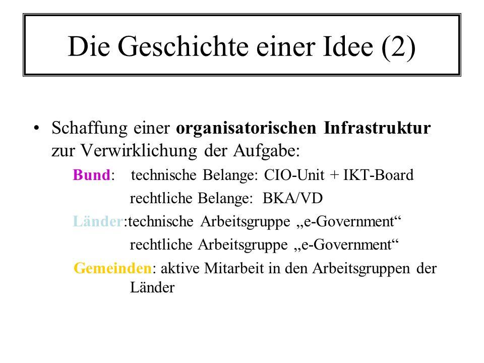 Die Geschichte einer Idee (2)