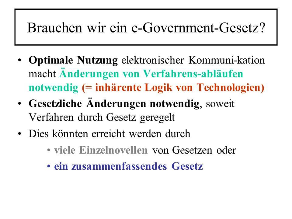 Brauchen wir ein e-Government-Gesetz