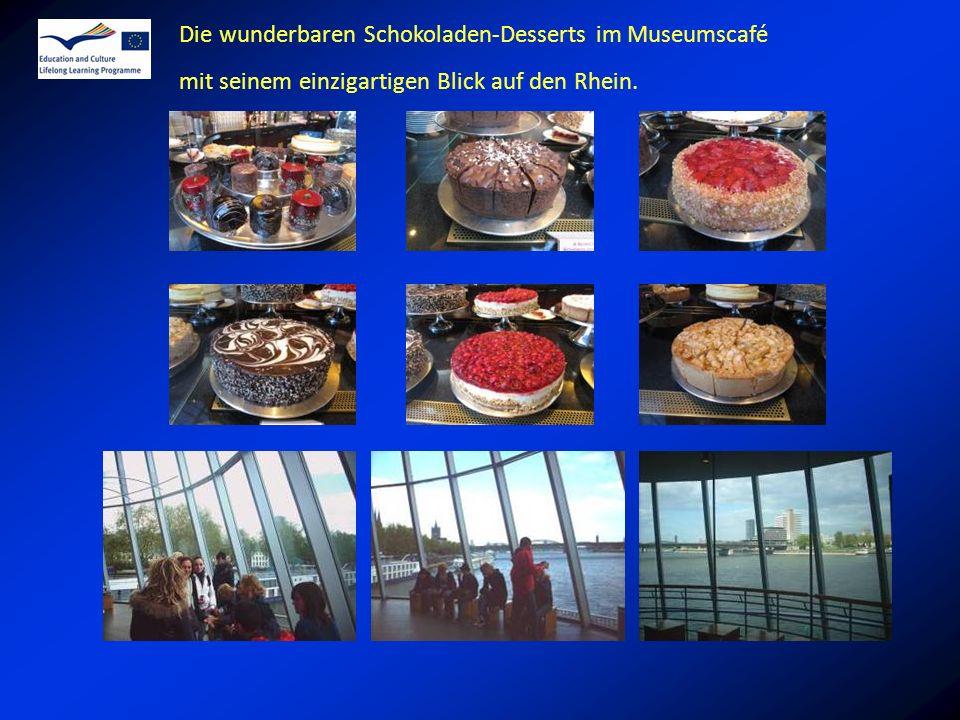 Die wunderbaren Schokoladen-Desserts im Museumscafé