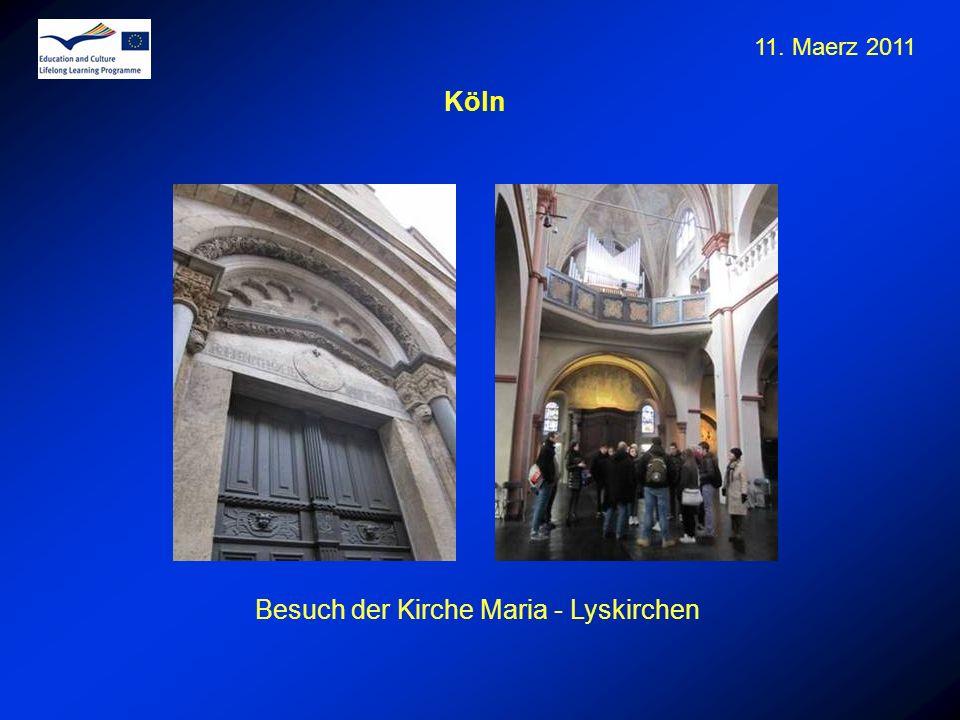 Besuch der Kirche Maria - Lyskirchen