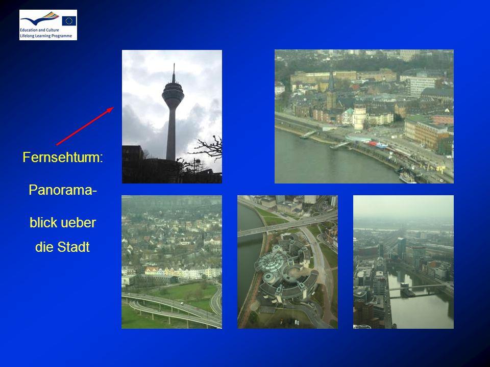 Fernsehturm: Panorama- blick ueber die Stadt