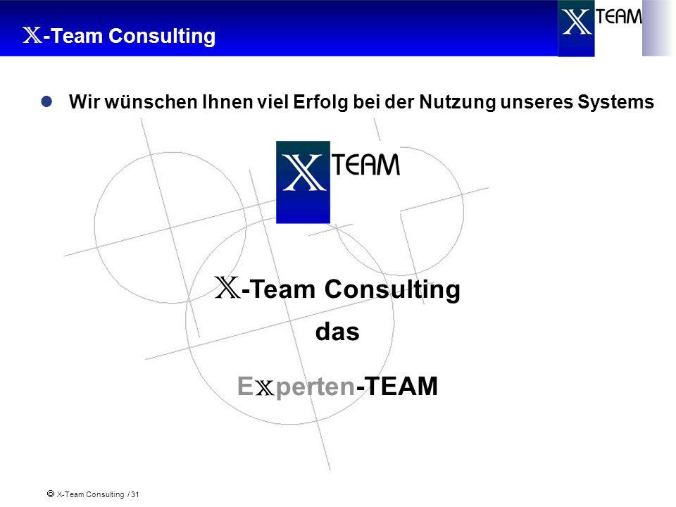 X-Team Consulting X-Team Consulting das Experten-TEAM
