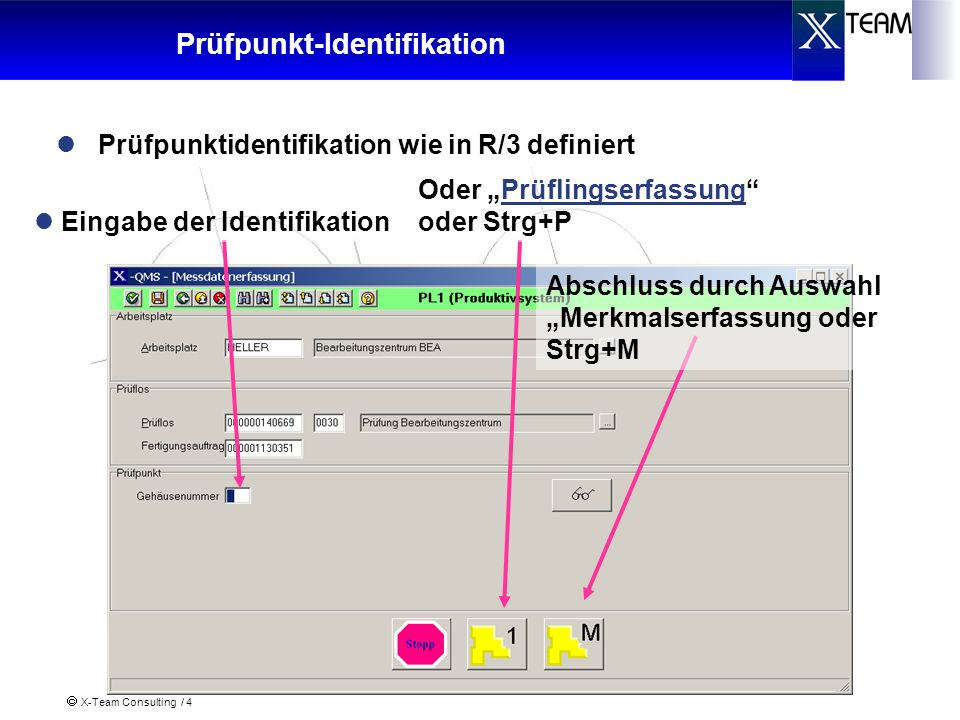 Prüfpunkt-Identifikation