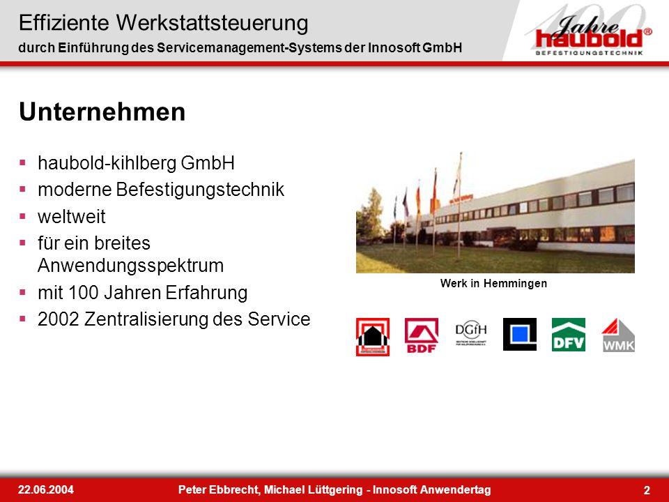 Peter Ebbrecht, Michael Lüttgering - Innosoft Anwendertag