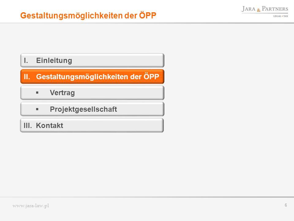 Gestaltungsmöglichkeiten der ÖPP