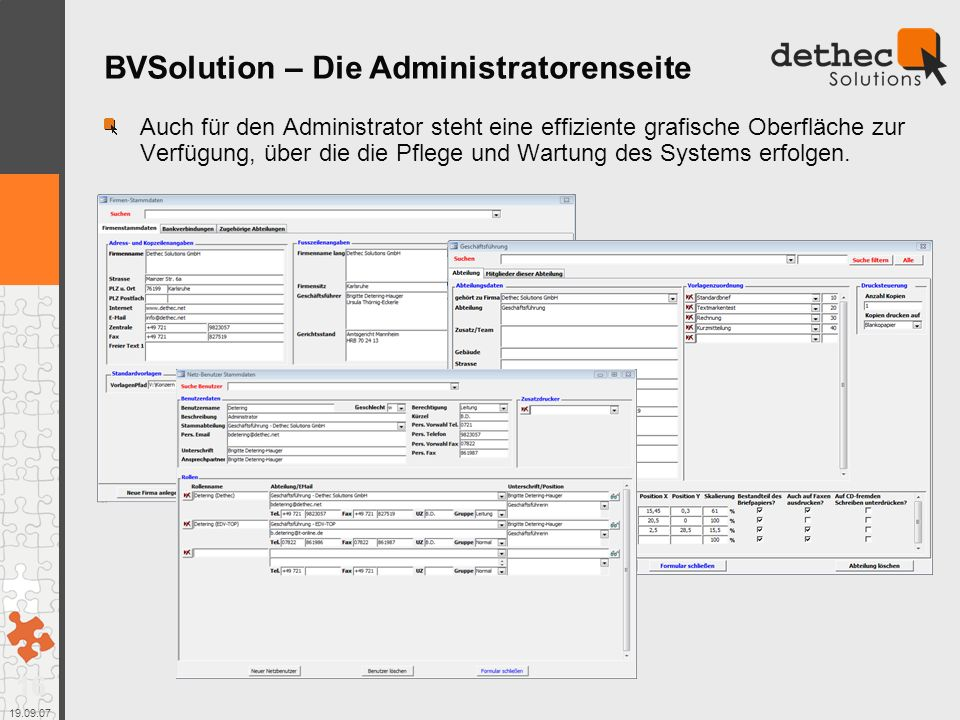 BVSolution – Die Administratorenseite