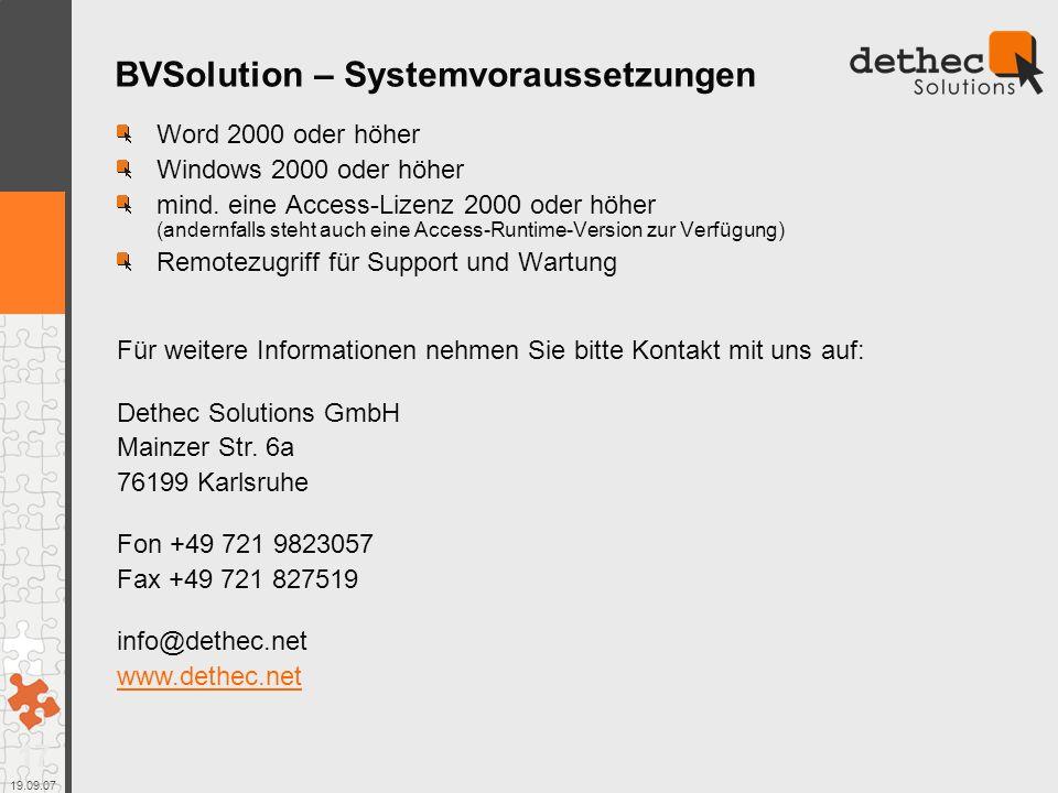 BVSolution – Systemvoraussetzungen