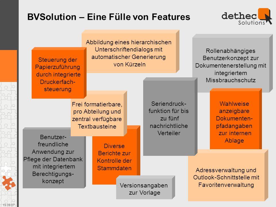BVSolution – Eine Fülle von Features