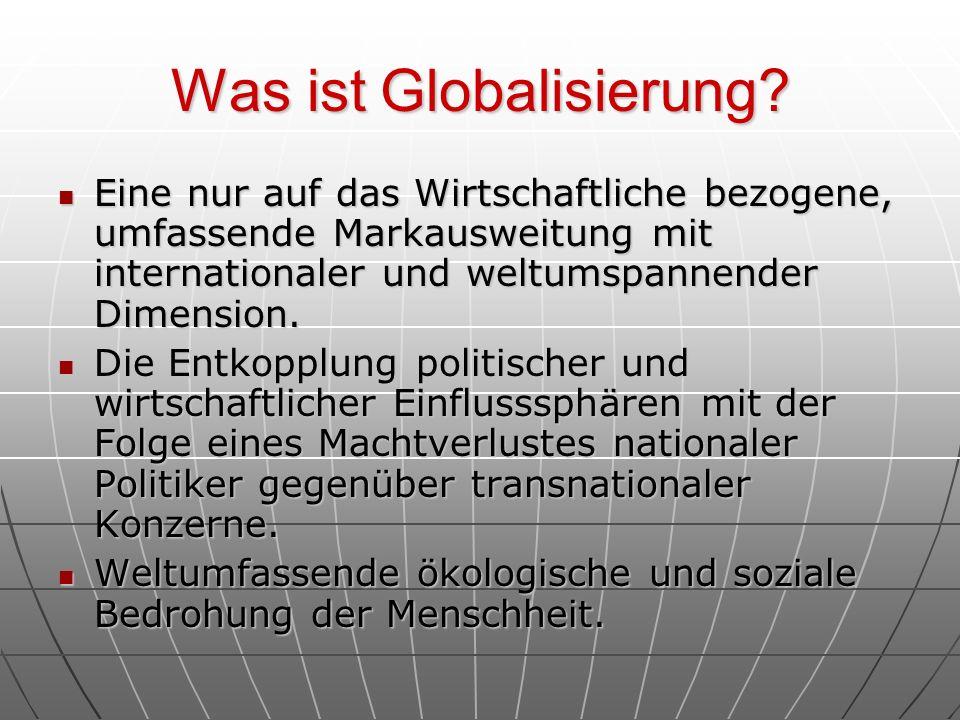 Was ist Globalisierung