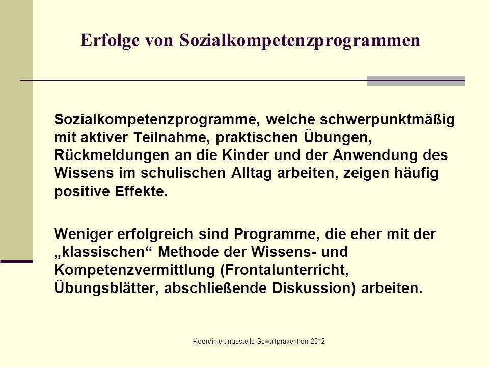 Erfolge von Sozialkompetenzprogrammen
