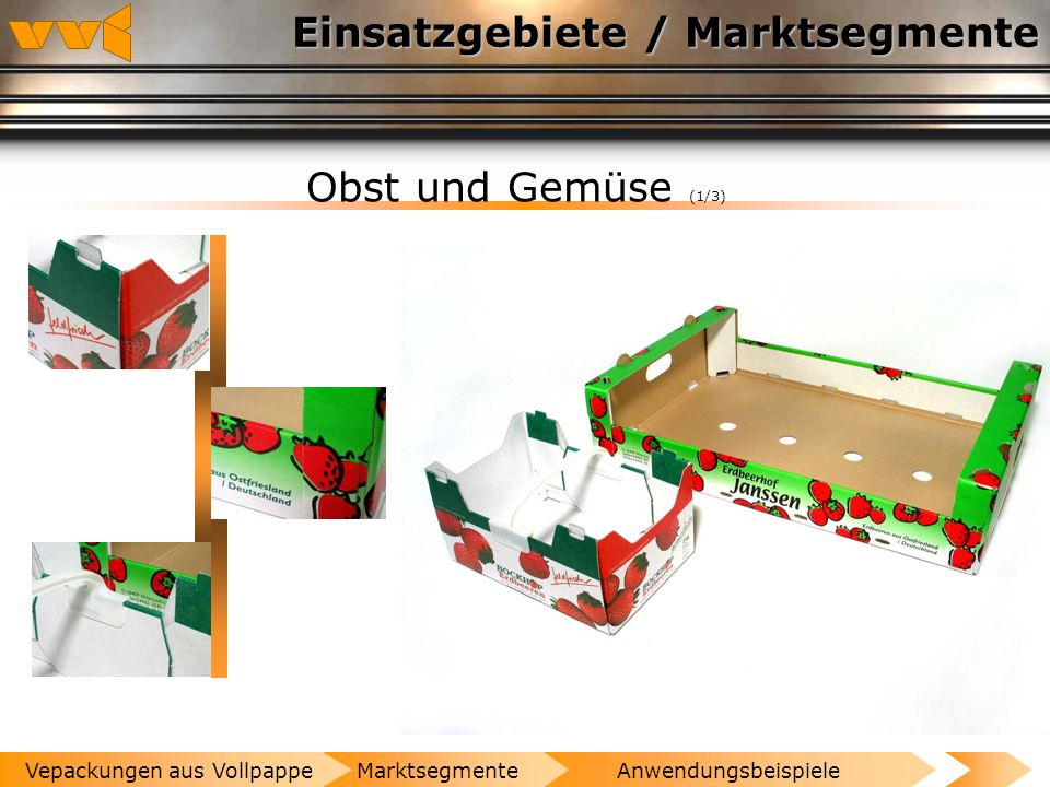 Einsatzgebiete / Marktsegmente