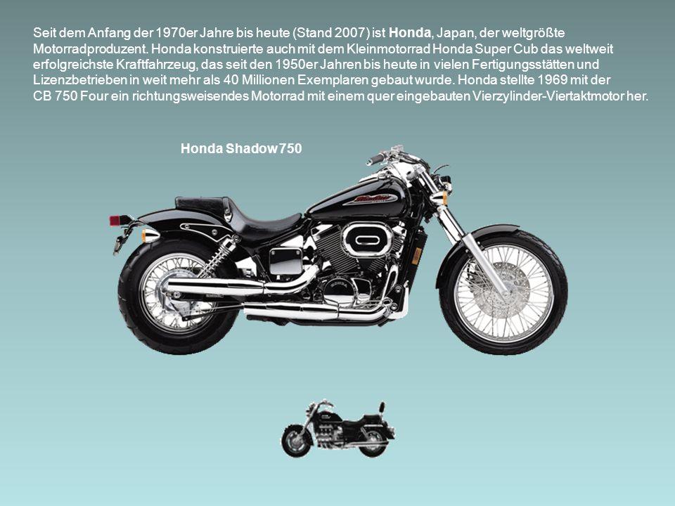 Seit dem Anfang der 1970er Jahre bis heute (Stand 2007) ist Honda, Japan, der weltgrößte