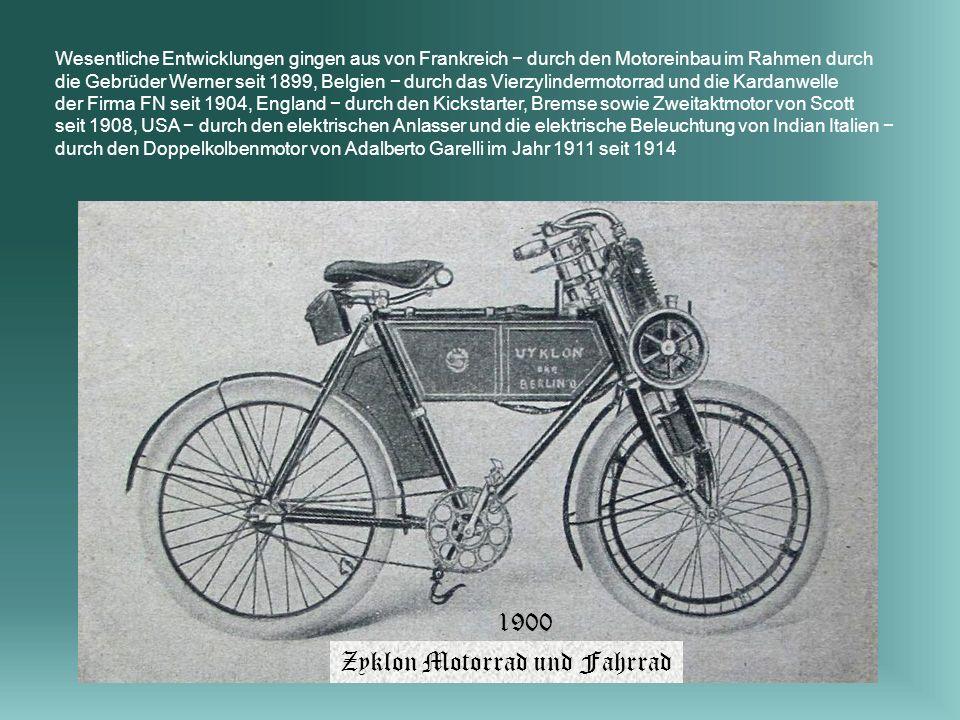 Zyklon Motorrad und Fahrrad