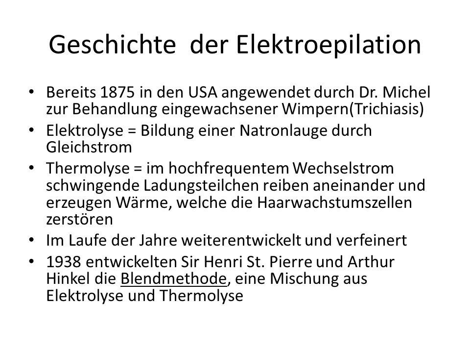 Geschichte der Elektroepilation