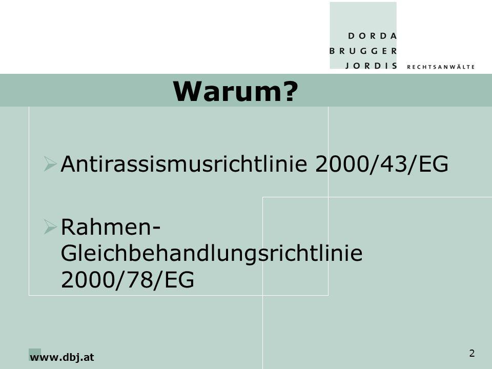 Warum Antirassismusrichtlinie 2000/43/EG