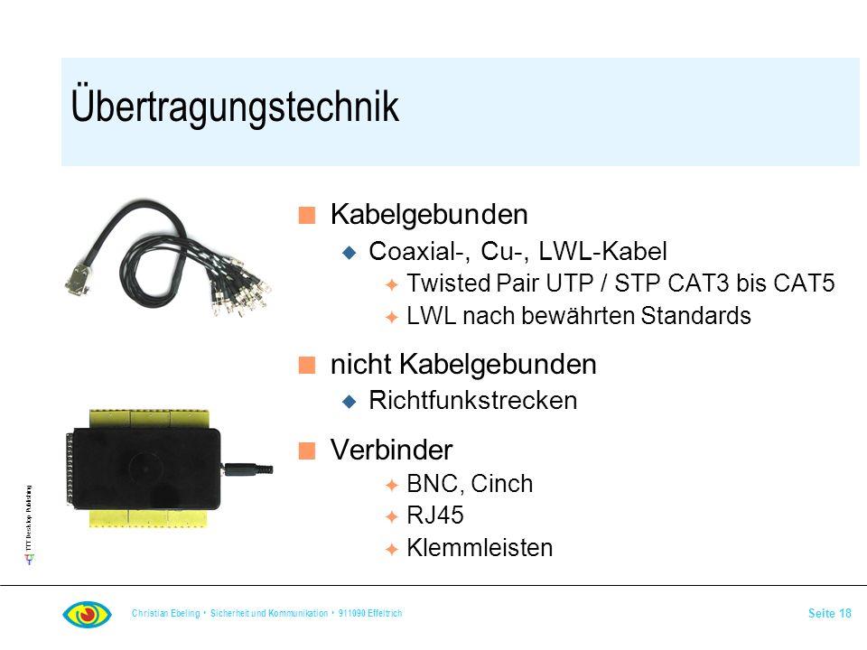 Übertragungstechnik Kabelgebunden nicht Kabelgebunden Verbinder