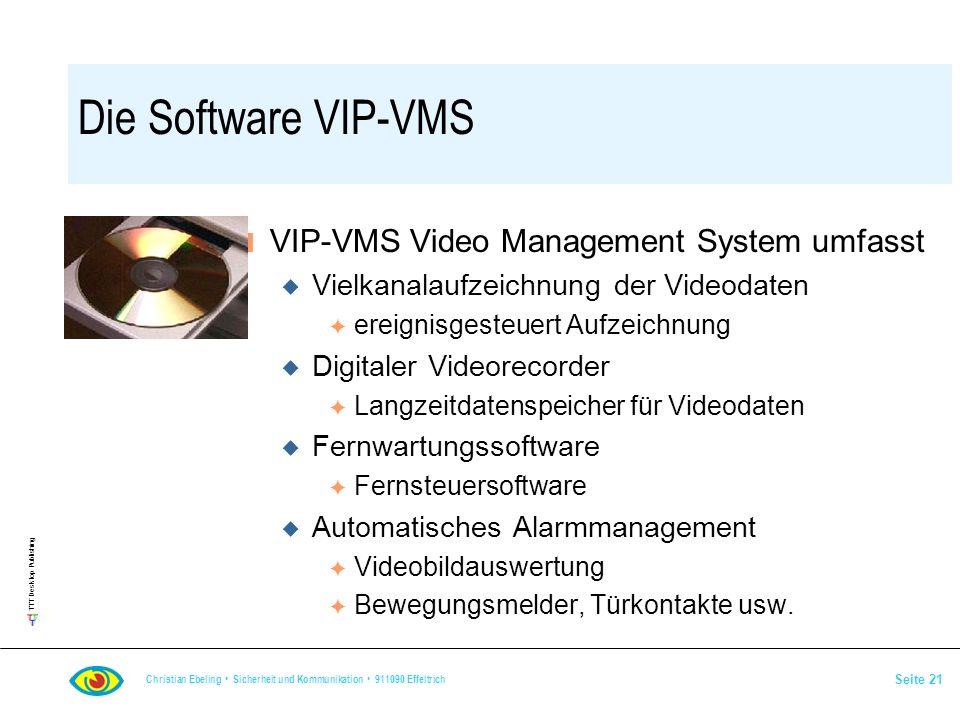 Die Software VIP-VMS VIP-VMS Video Management System umfasst