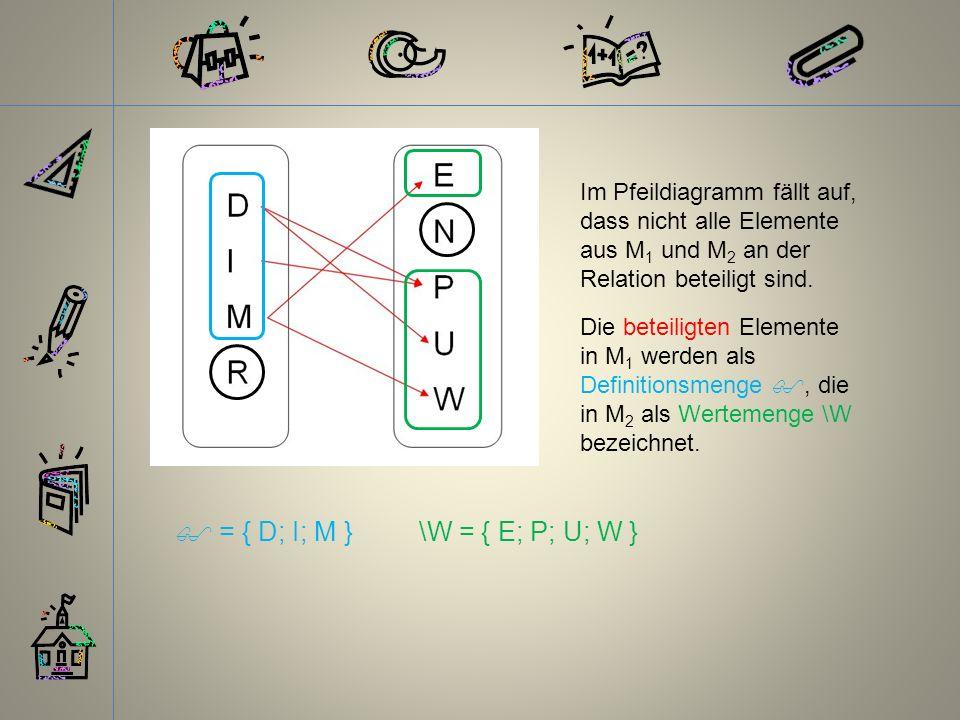  = { D; I; M } \W = { E; P; U; W }