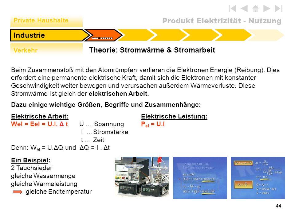 Theorie: Stromwärme & Stromarbeit