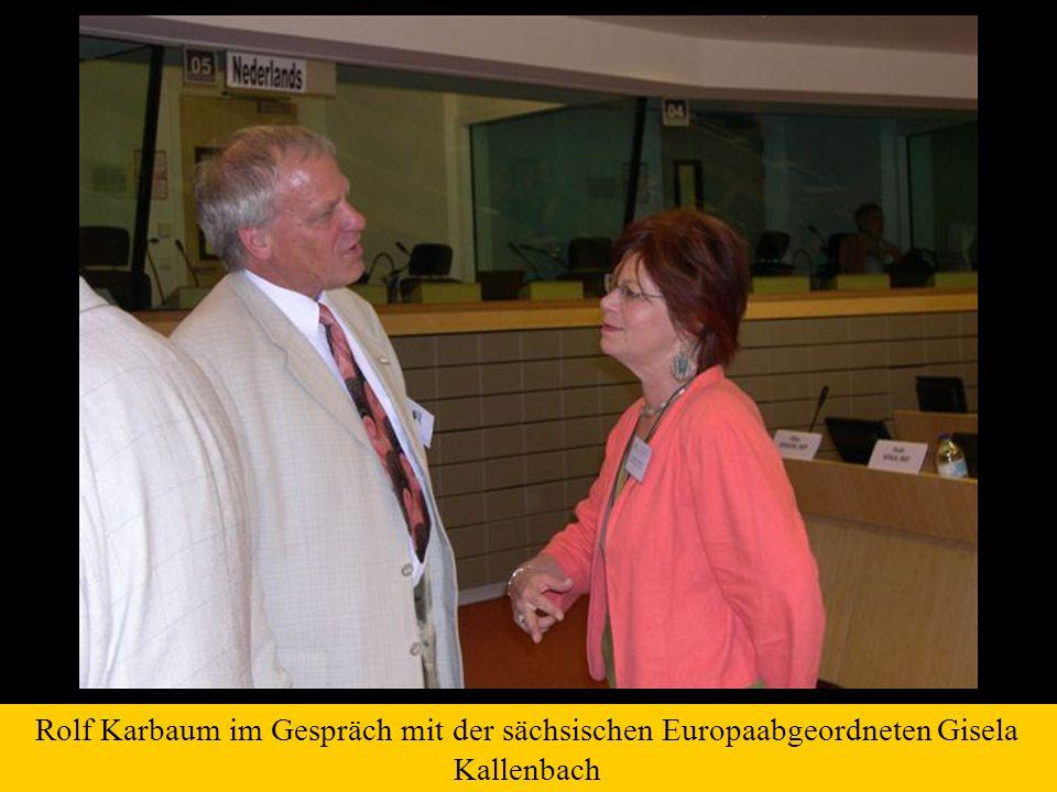 Rolf Karbaum im Gespräch mit der sächsischen Europaabgeordneten Gisela Kallenbach