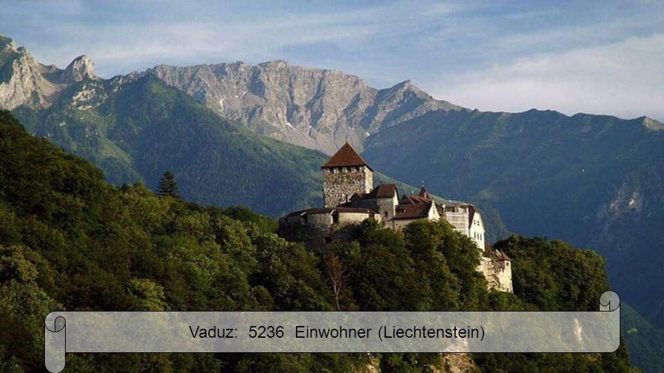 Vaduz: 5236 Einwohner (Liechtenstein)