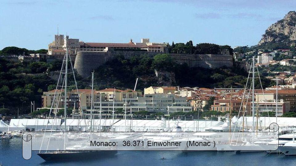 Monaco: 36.371 Einwohner (Monac )