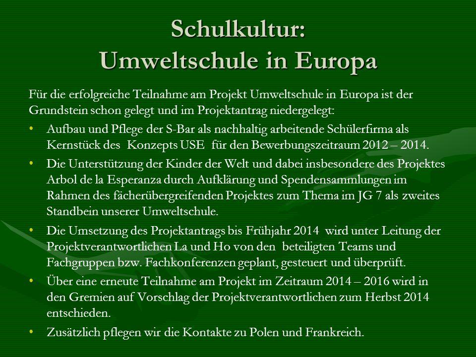 Schulkultur: Umweltschule in Europa